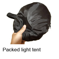 Packed light tent