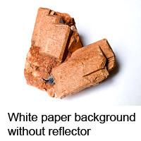 Feldspar on white paper background
