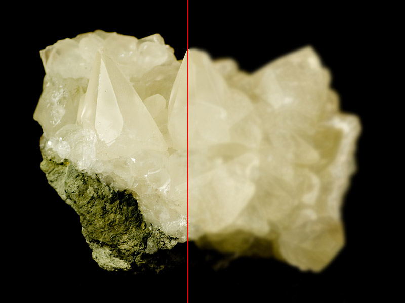 Making sharp mineral photos